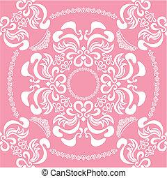 Abstracción de color rosa floral sin costura