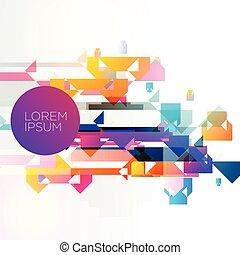 Abstracción de colorido diseño vectorial de fondo