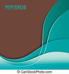 Abstracción de colorido vector de fondo. Forma una transición suave y olas.