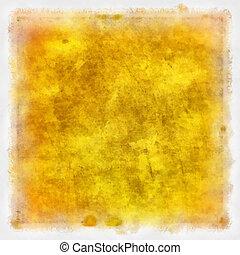 Abstracción de fondo amarillo y marrón o papel con textura grunge
