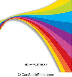 Abstracción de fondo arco iris