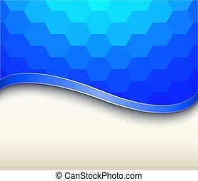 Abstracción de fondo azul