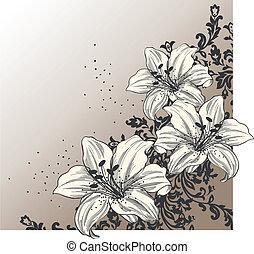 Abstracción de fondo con floreciente l