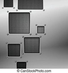 Abstracción de fondo de metal. Ilustración del vector.
