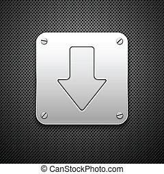 Abstracción de fondo de metal. Señal de descarga. Ilustración del vector.