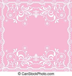 Abstracción de fondo femenino rosado