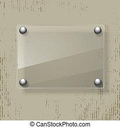 Abstracción de fondo grunge con marco de cristal. Ilustración del vector.