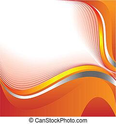 Abstracción de fondo naranja