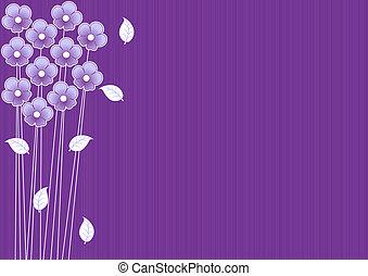 Abstracción de fondo púrpura con flores