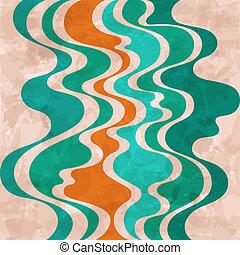 Abstracción de fondo retro. Ondas coloridas