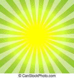 Abstracción de fondo verde amarillo (vector)