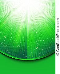 Abstracción de fondo verde con estrellas. EPS 8