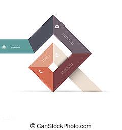 Abstracción de forma geométrica para diseño en red