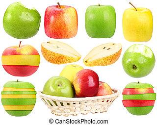 Abstracción de frutas frescas y extrañas