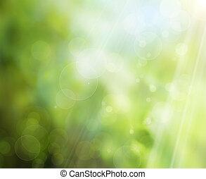 Abstracción de la naturaleza primaveral