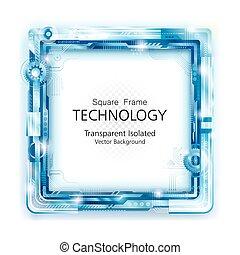 Abstracción de la tecnología marco backgroun