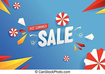 Abstracción de la venta de verano vector de ilustración de fondo