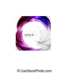 Abstracción de remolinos púrpura