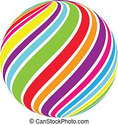 Abstracción de vector de la esfera
