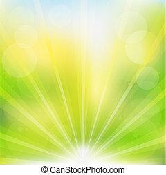 Abstracción de vector verde
