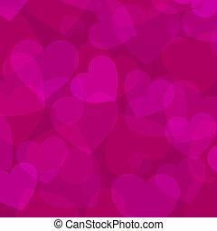 Abstracción del corazón rosado