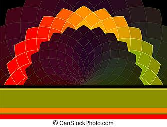 Abstracción del vector. Colores vibrantes de la rueda