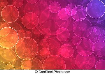 Abstracción en un colorido efecto de bokeh digital