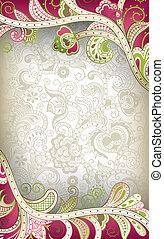 Abstracción floral curva