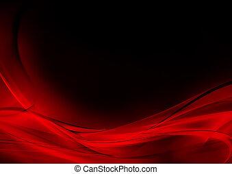 Abstracción luminosa, roja y negra