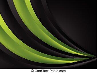 Abstracción suave y verde fondo corporativo ondulado