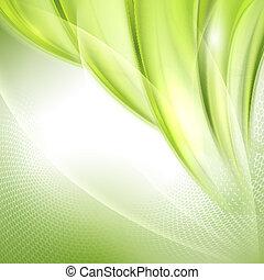 Abstract Green ondeando fondo