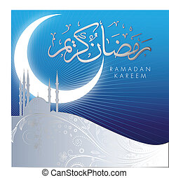 Abstract ramadan kareem celebraciones