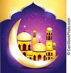 Abstract ramadan mubarakh