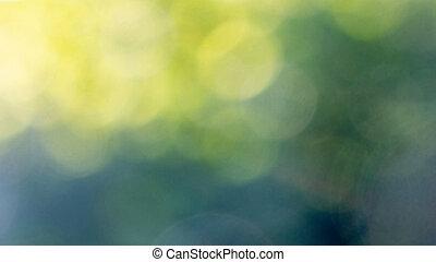 Abstract verde amarillo borroso fondo bokeh. Hermoso diseño