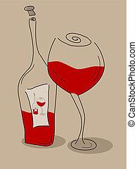 Abstracta botella de vino