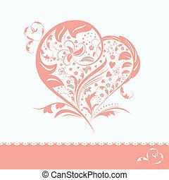 Abstracta carta de invitación al corazón