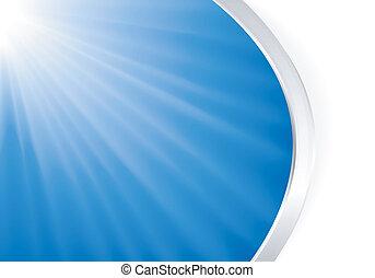 Abstracta luz azul reventó de plata