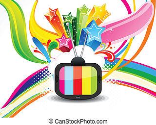 Abstracta televisión colorida