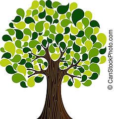 Abstracto árbol de primavera