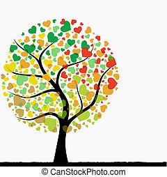 Abstracto árbol del corazón