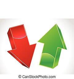 Abstracto 3 arriba y abajo flechas