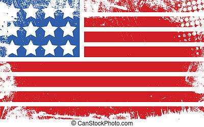 Abstracto 4 de julio bandera