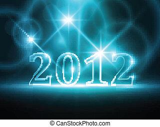 Abstracto año azul 2012 antecedentes