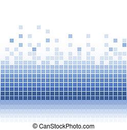 Abstracto aqua cuadrado pixel mosaico