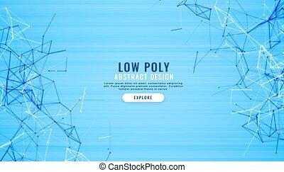 Abstracto azul bajo líneas de polietileno fondo digital