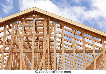 Abstracto de casa enmarcando la construcción