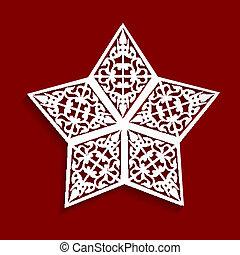 Abstracto de la estrella de papel