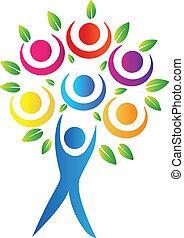 Abstracto logotipo de árbol
