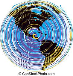 Abstracto mapa del vector de América