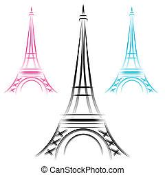 Abstracto torre de eiffel